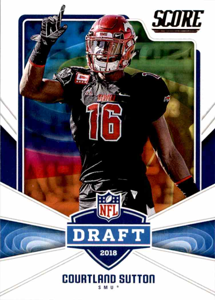 2018 Panini Score Draft Courtland Sutton #22 card front image