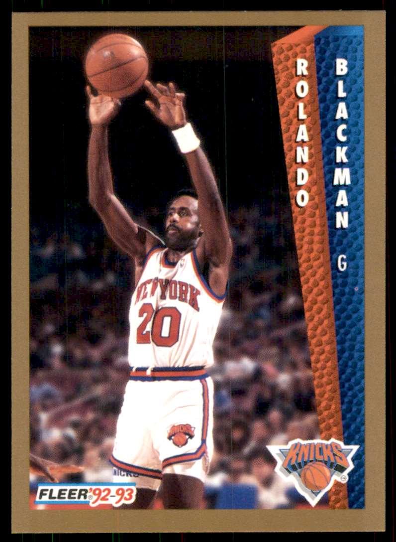 1992-93 Fleer Rolando Blackman #393 card front image