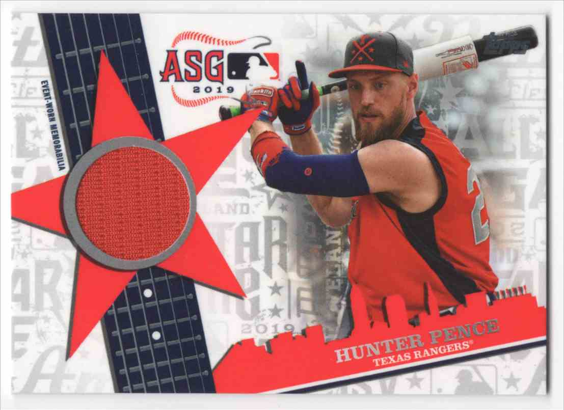 2019 Topps Update All Star Stitches Hunter Pence #ASSRHP card front image