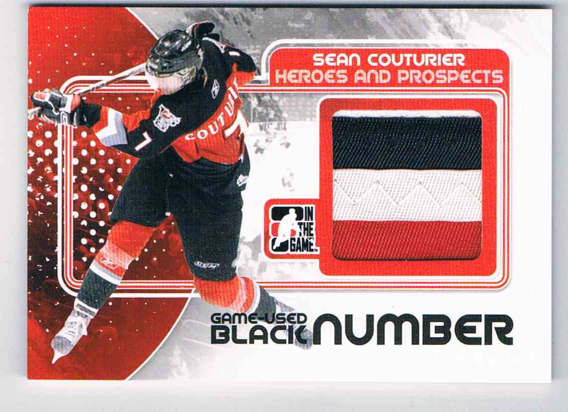 2010-11 ITG Heroes And Prospects Game Used Numbers Black Game Used Numbers Black Sean Couturier #M-44 card front image