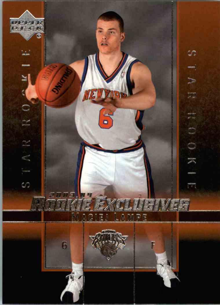 2004 05 Upper Deck Rookie Exclusives Maciej Lampe #25