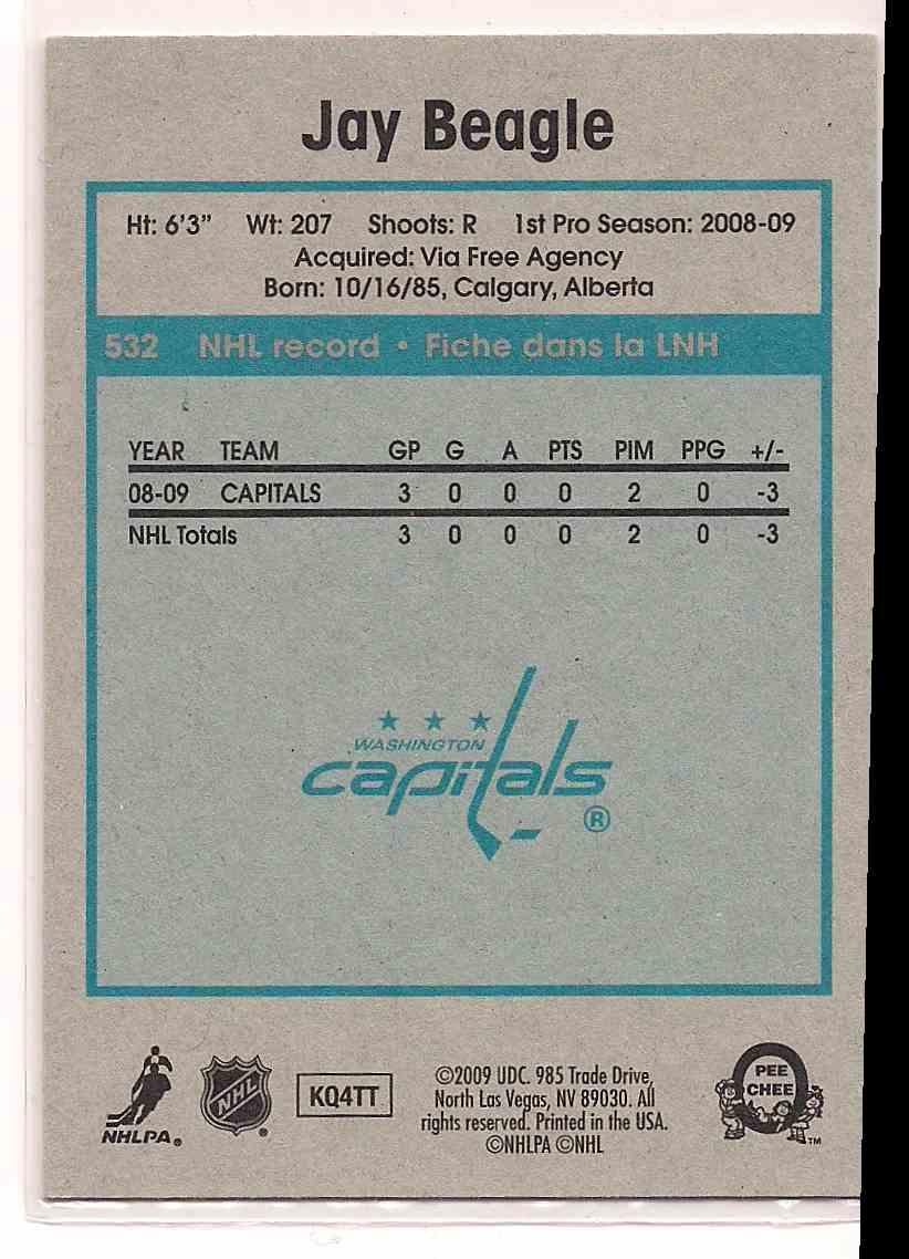2009-10 0-Pee-Chee Retro Jay Beagle #532 card back image
