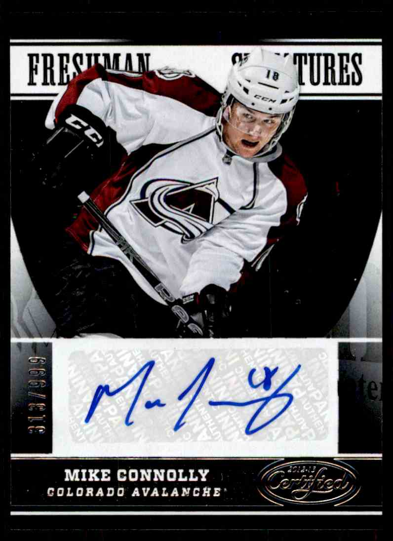 2012-13 Certified Freshman Signatures Mike Connolly #174 card front image