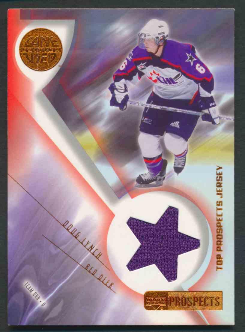 2001-02 Upper Deck CHL Prospects Doug Lynch #J-DL card front image