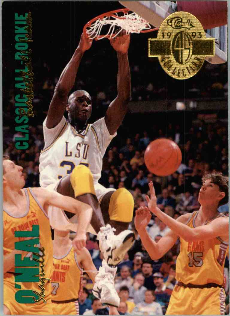 1993-94 Classic Shaquille O'Neal #315 card front image