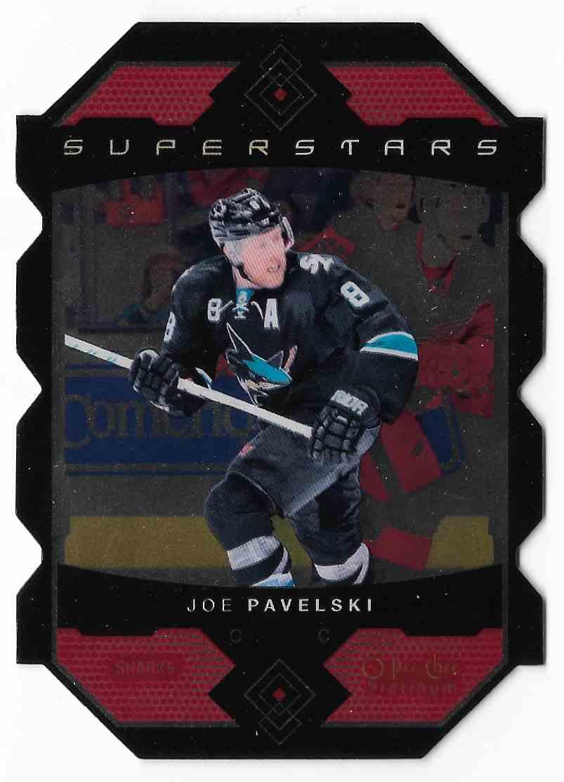 2015-16 O-Pee-Chee Platinum Joe Pavelski #SS-11 card front image