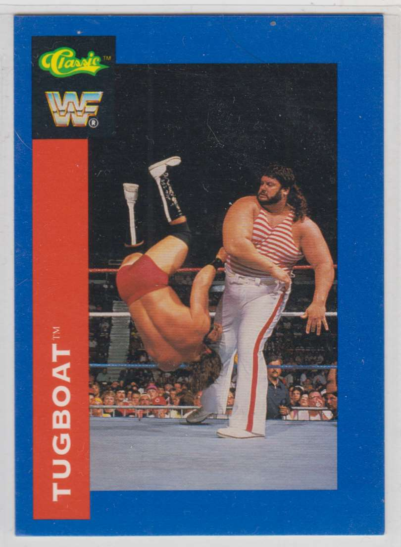1991 Classic WWF Superstars Tugboat #13 card front image