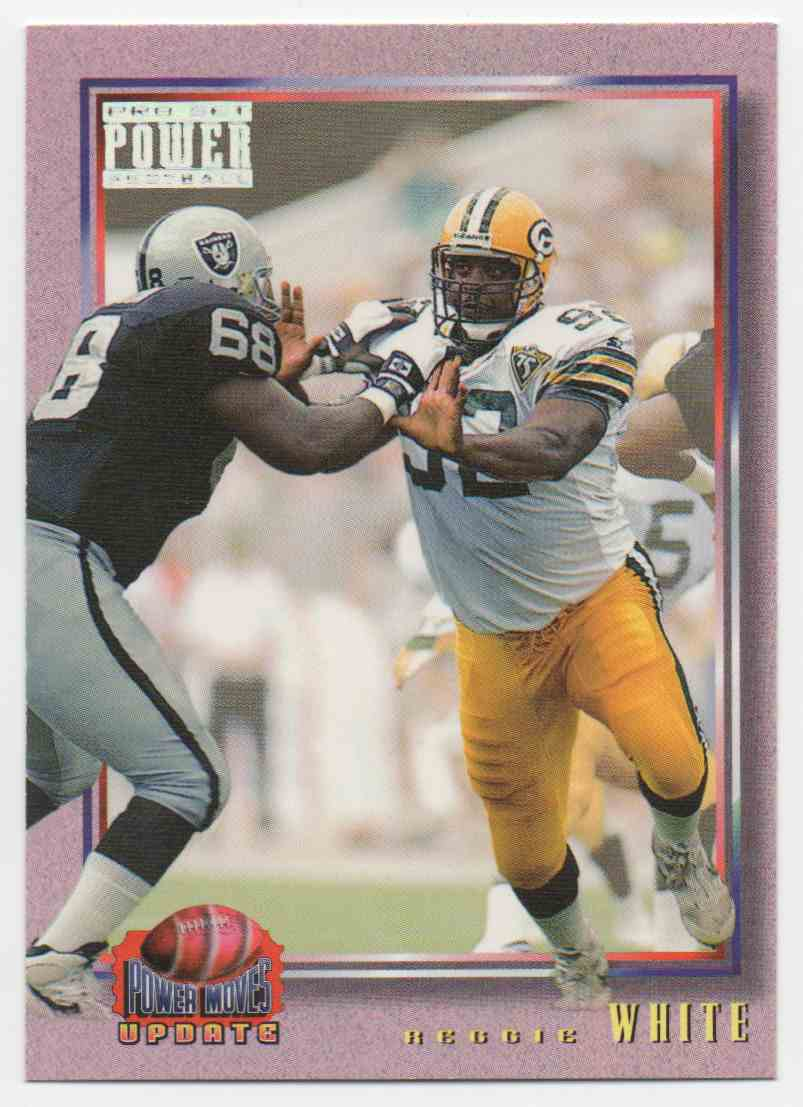 1993 Pro Set Power Power Moves Update Reggie White #8 card front image
