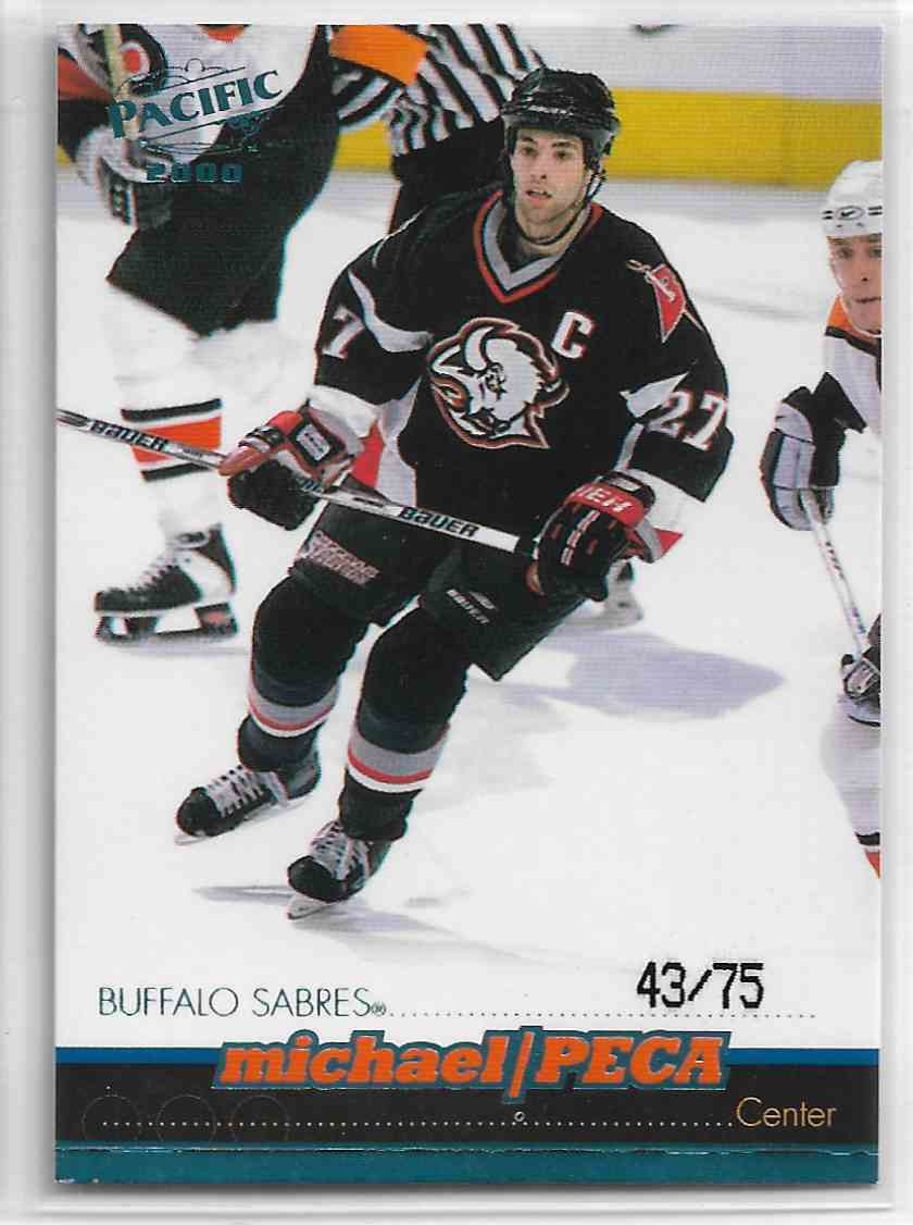1999-00 Pacific Ice Blue Michael Peca #41 card front image