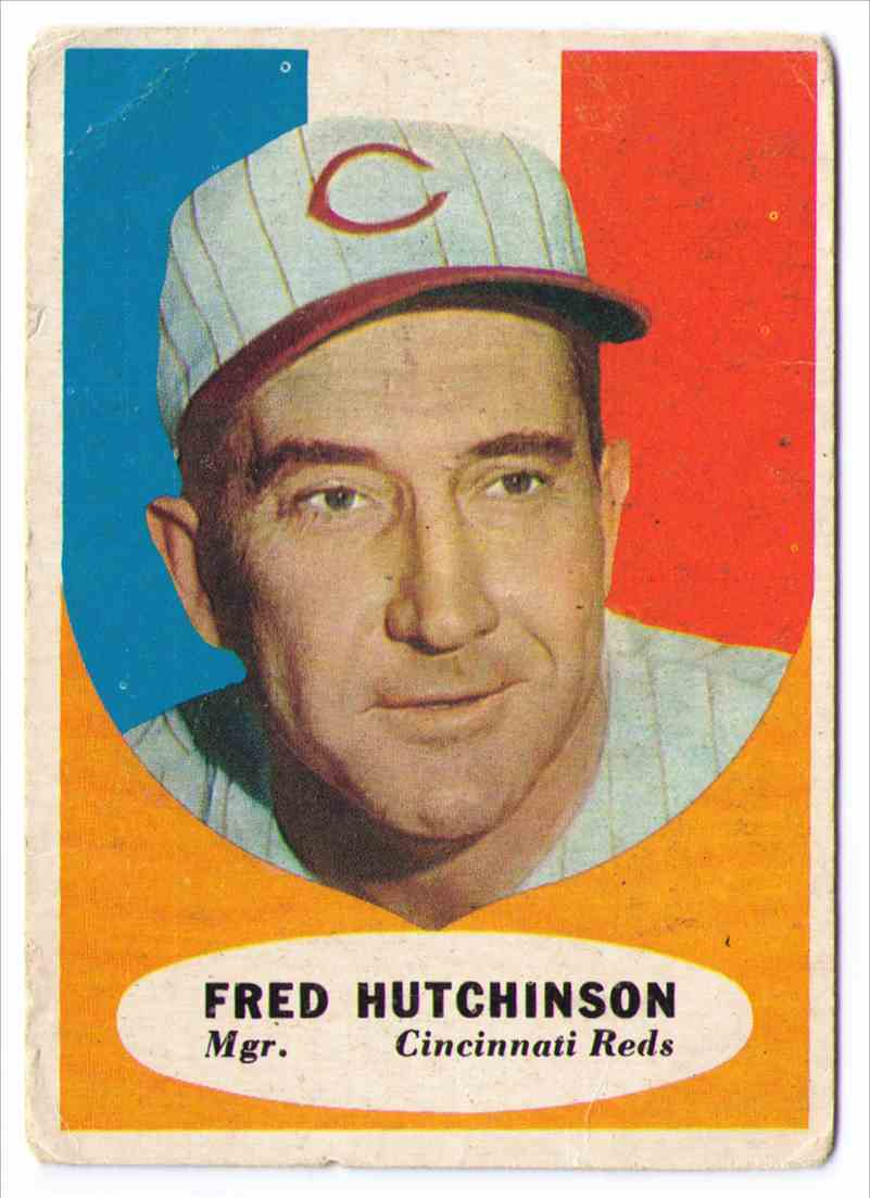 1961 Topps Fred Hutchinson #135 card front image