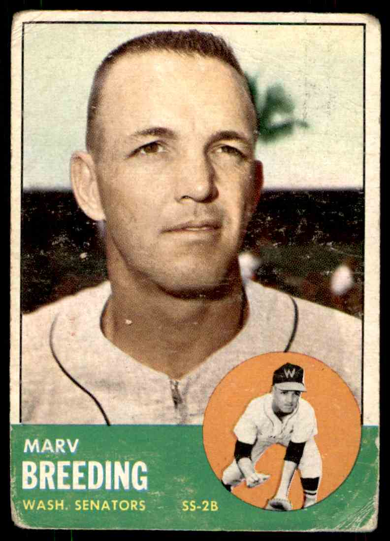 1963 Topps Marc Breeding #149 card front image