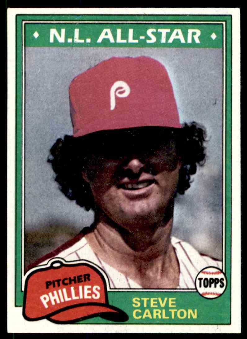 1981 Topps Steve Carlton #630 card front image
