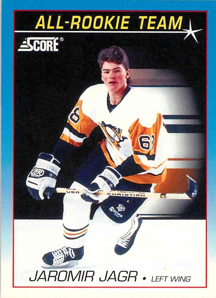 1991 92 Score All Rookie Team Jaromir Jagr 381 On Kronozio