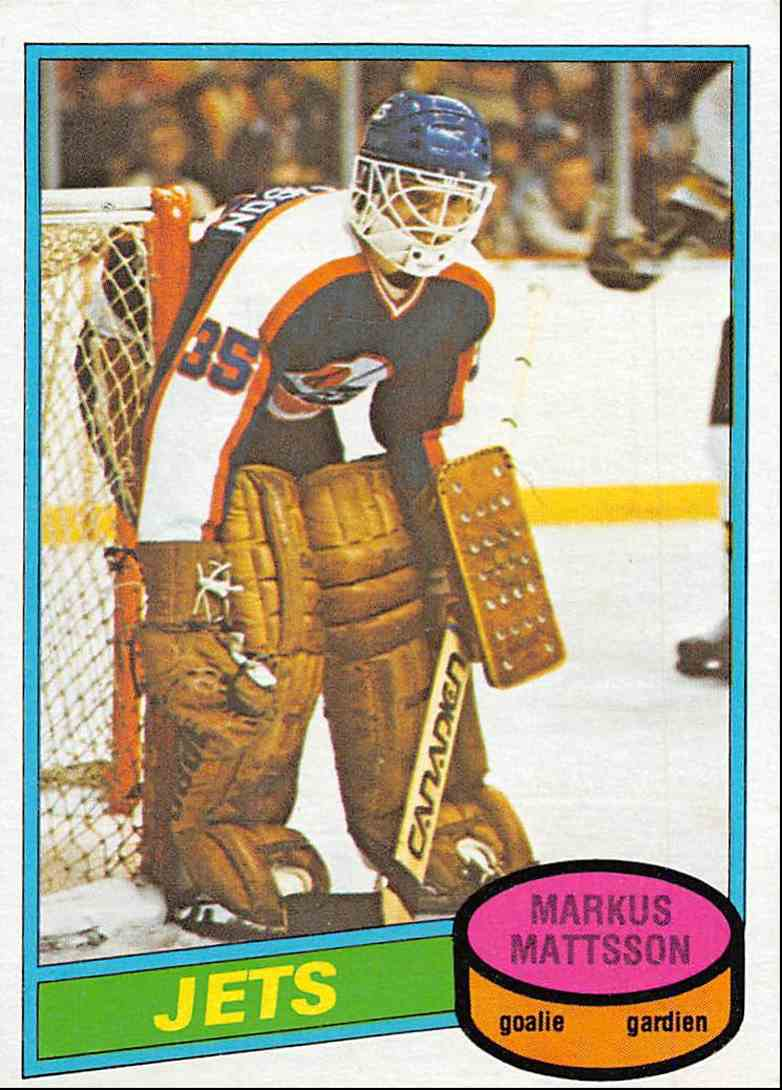 1980-81 O-Pee-Chee Markus Mattsson #394 card front image