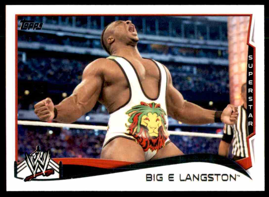 2014 Topps Wwe Big E Langston #3 card front image