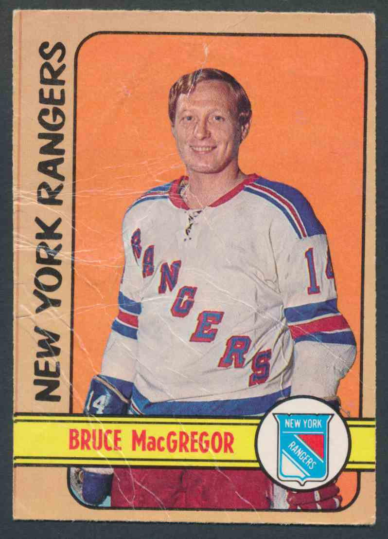 1972-73 O-Pee-Chee Bruce MacGregor #103 card front image