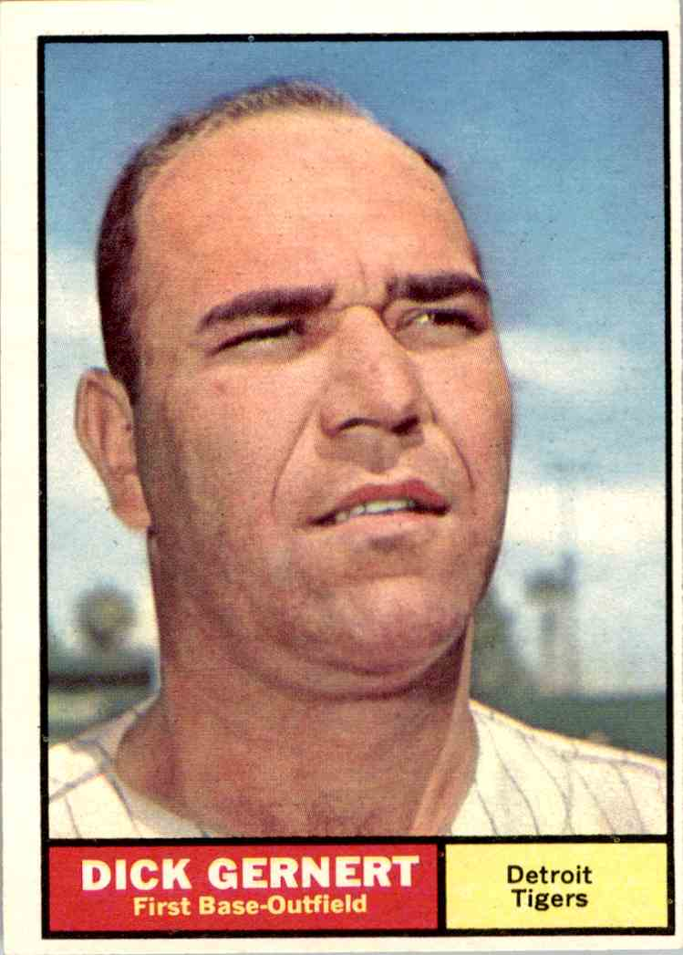 1961 Topps Dick Gernert #284 card front image