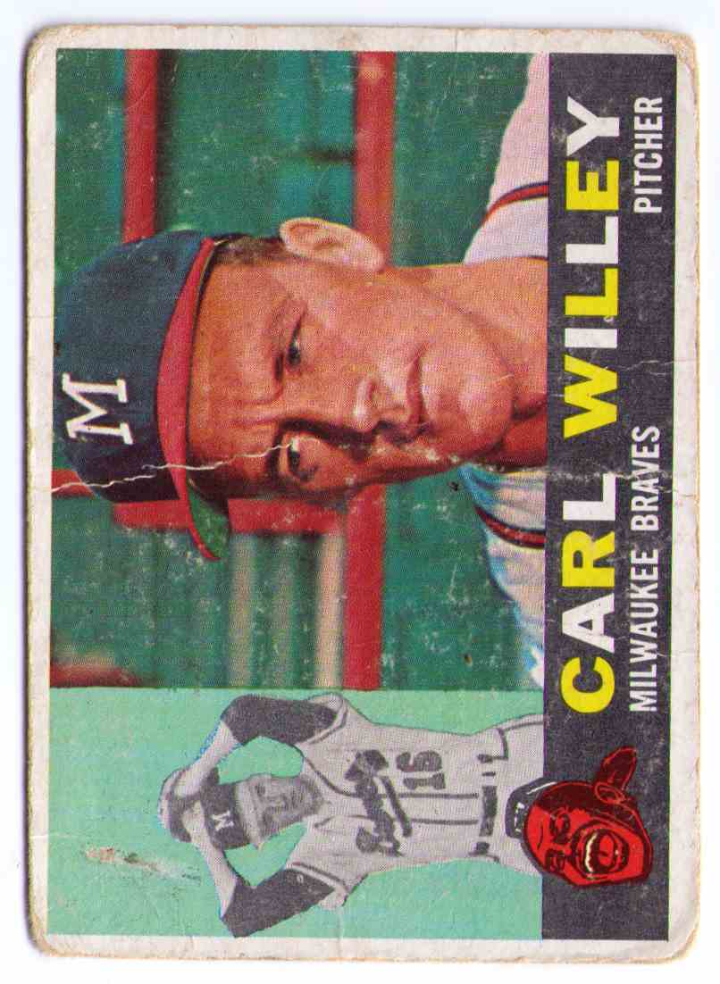 1960 Topps Baseball Card Carl Willey #107 card front image