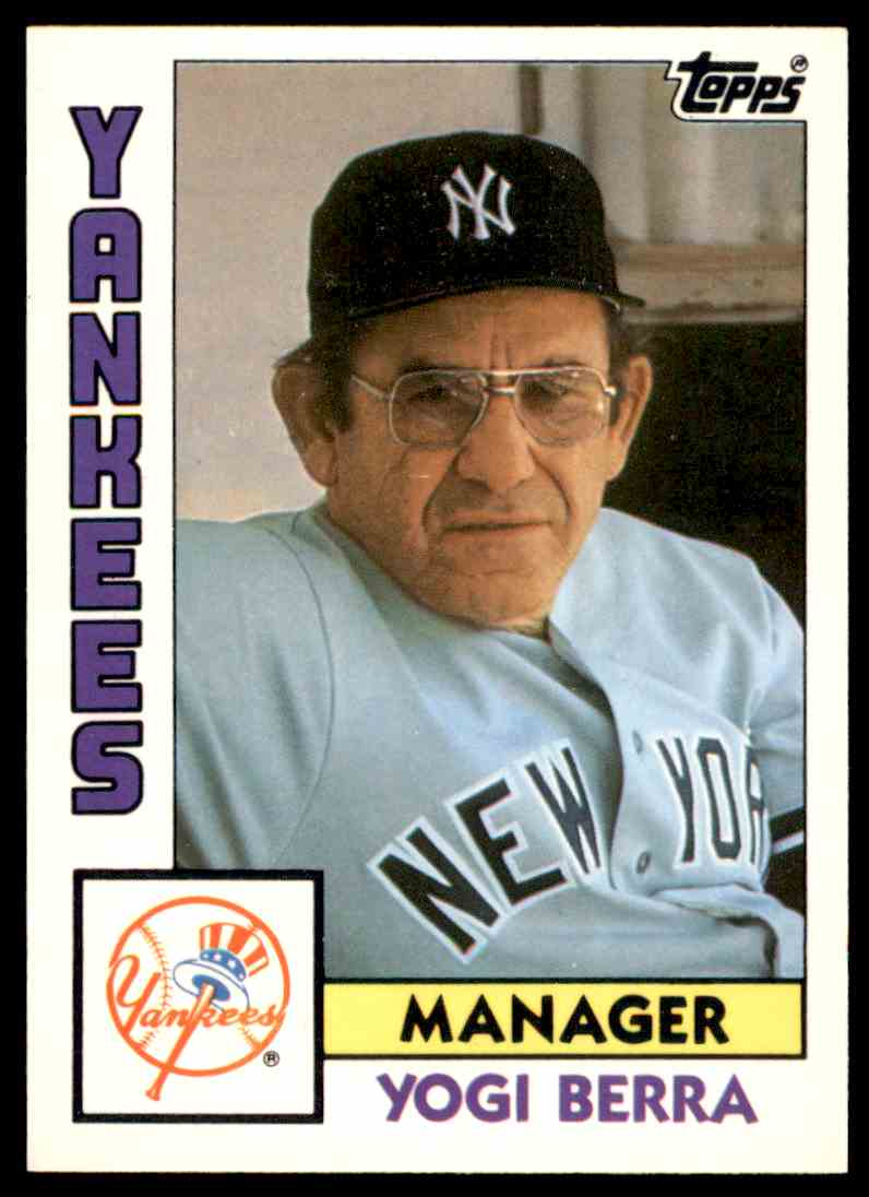 1984 Topps Traded Tiffany Yogi Berra Manager 13t On Kronozio