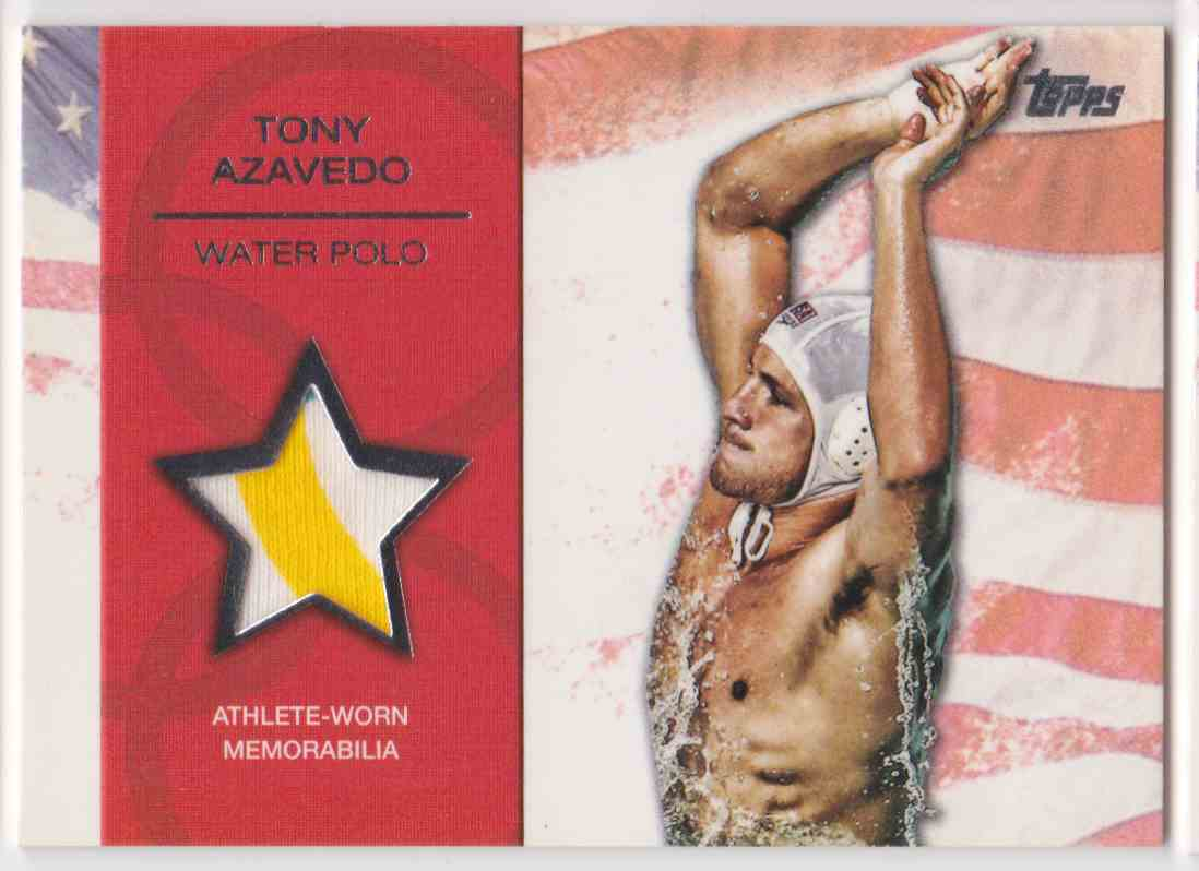 2012 Topps U.S. Olympic Team Relic 2 Color Tony Azavedo #OR-TA card front image