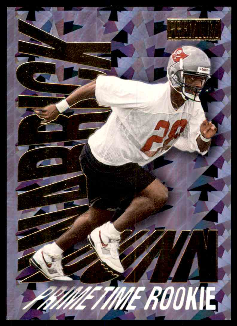 1997 SkyBox Premium Prime Time Rookies Warrick Dunn #9 card front image