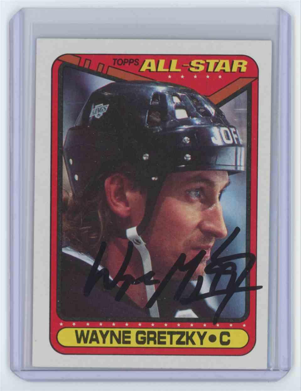 1990 1990-91 Topps All Star #199 Wayne Gretzky Los Angeles Kings Auto Wayne Gretzky #199 card front image
