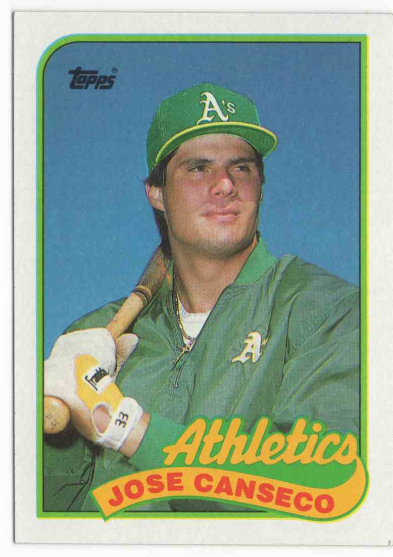 1989 Topps Jose Canseco #500 card front image