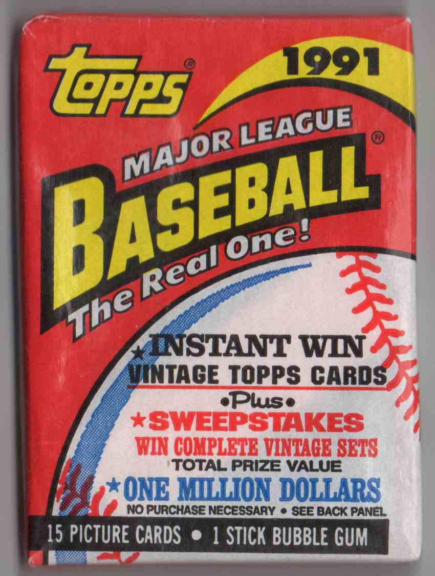 1991 Topps Unopened Pack #15 card front image