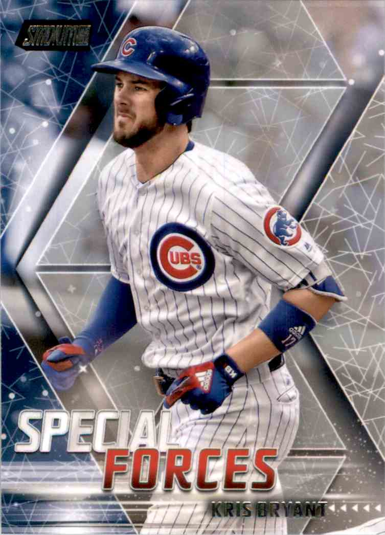 2018 Stadium Club Special Forces Kris Bryant #SFKB card front image