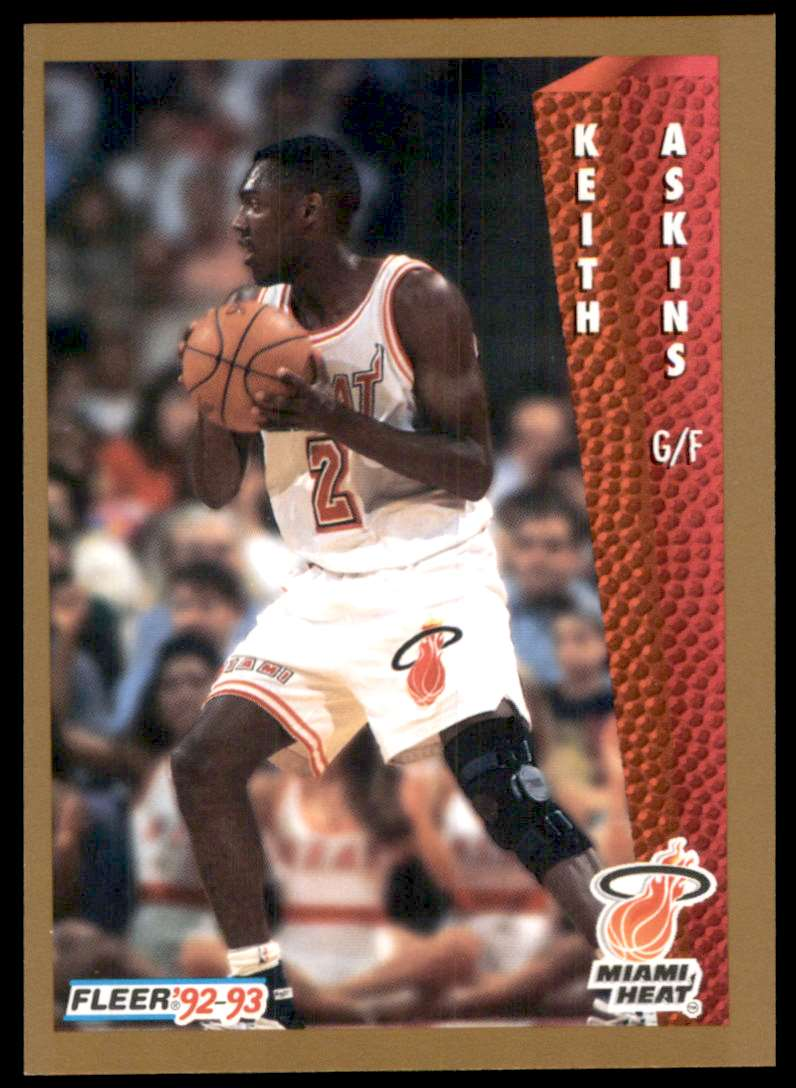 1992-93 Fleer Keith Askins #366 card front image