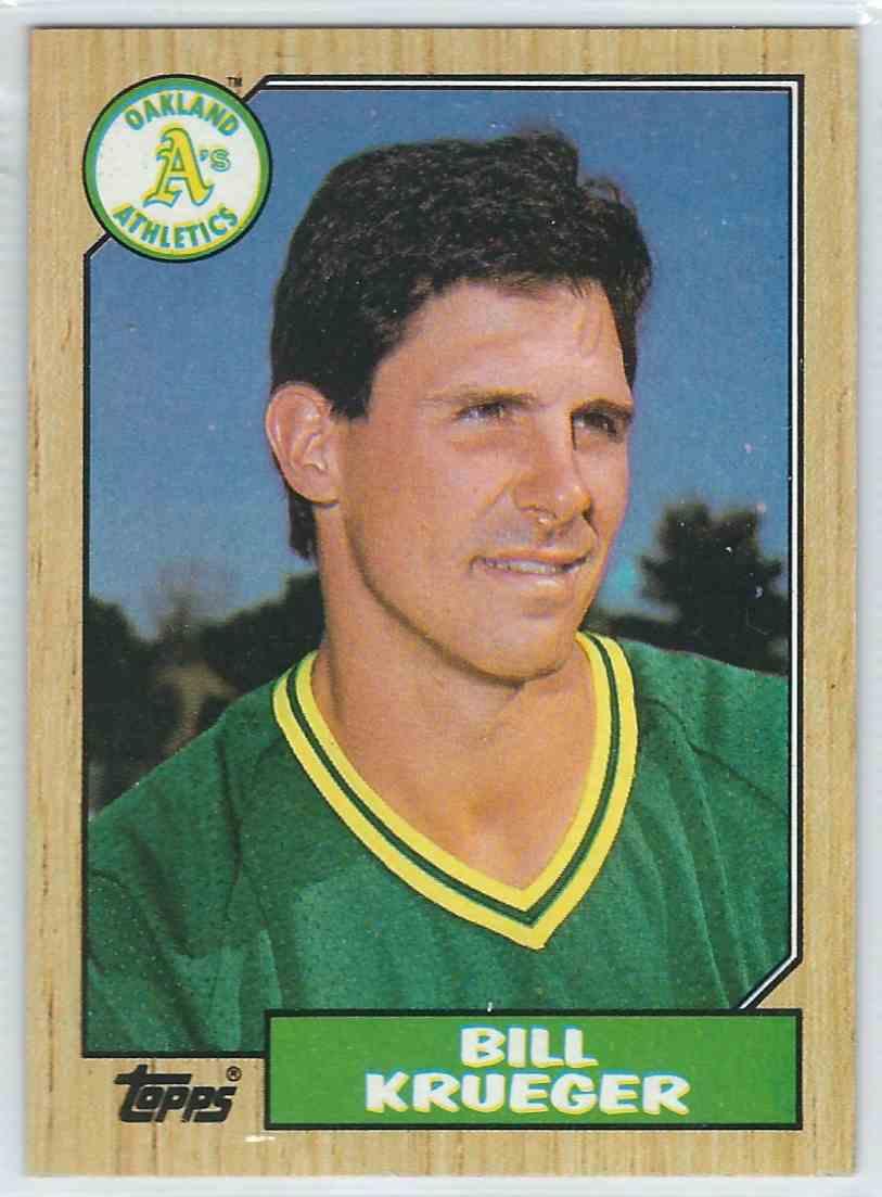1987 Topps Bill Krueger #238 card front image