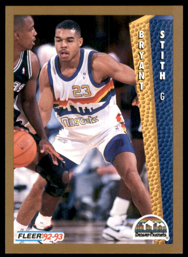 1992-93 Fleer Bryant Stith RC #332 card front image