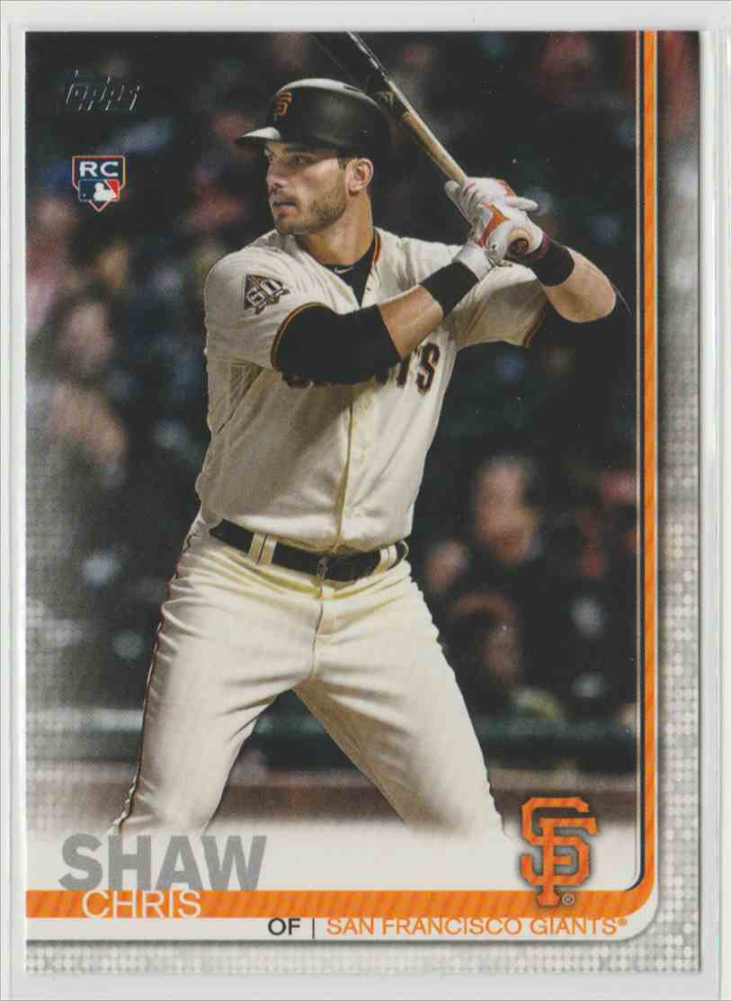 2019 Topps Chris Shaw #611 card front image