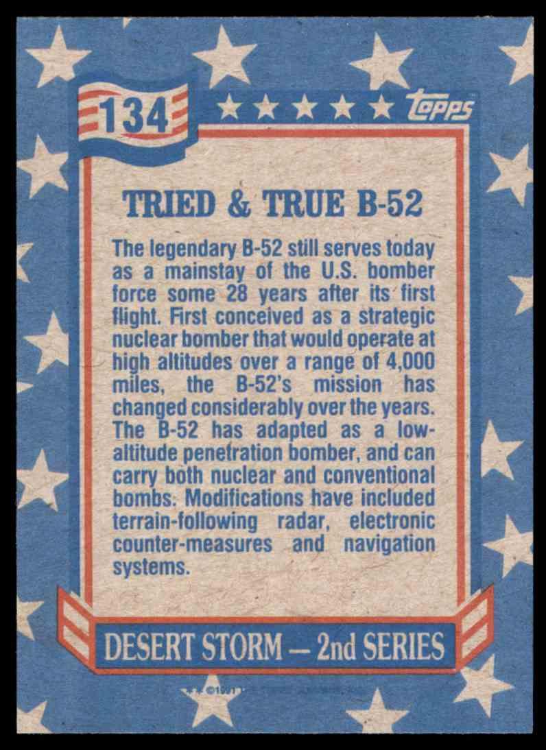 1991 Desert Storm Topps Tried & True B-52 #134 card back image