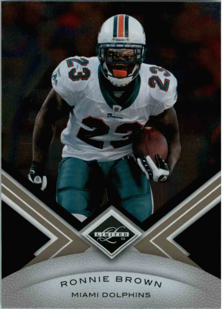 2010 Leaf Limited Ronnie Brown #52 card front image
