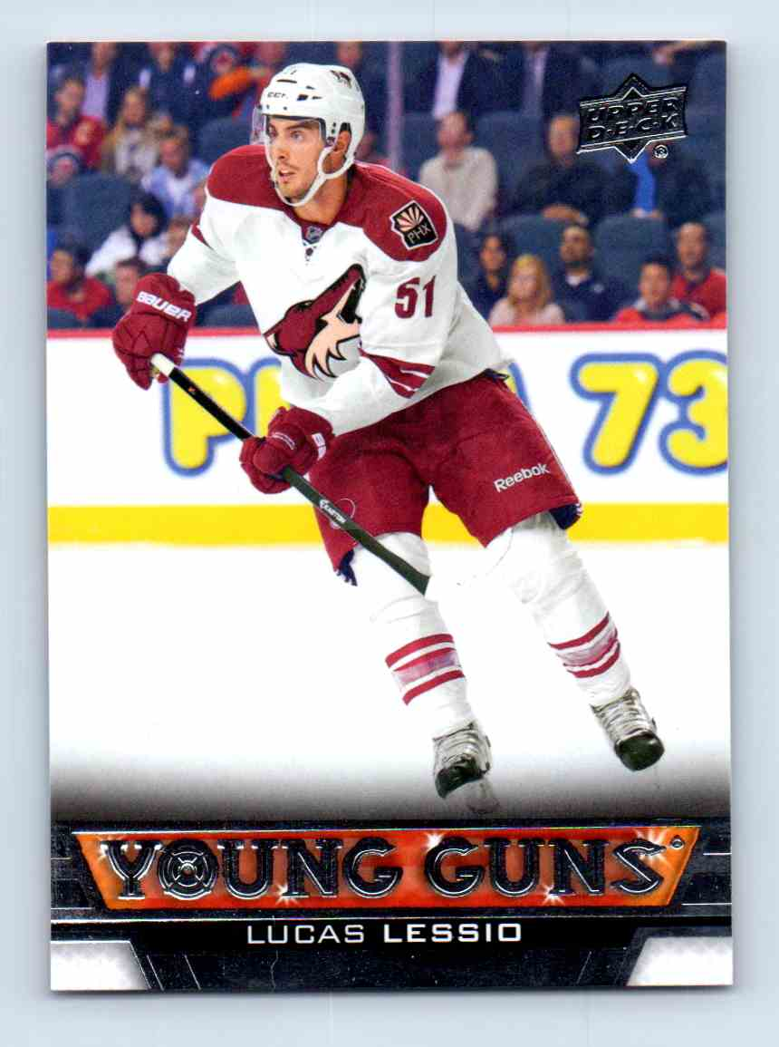 2013-14 Upper Deck Young Guns Lucas Lessio #239 card front image