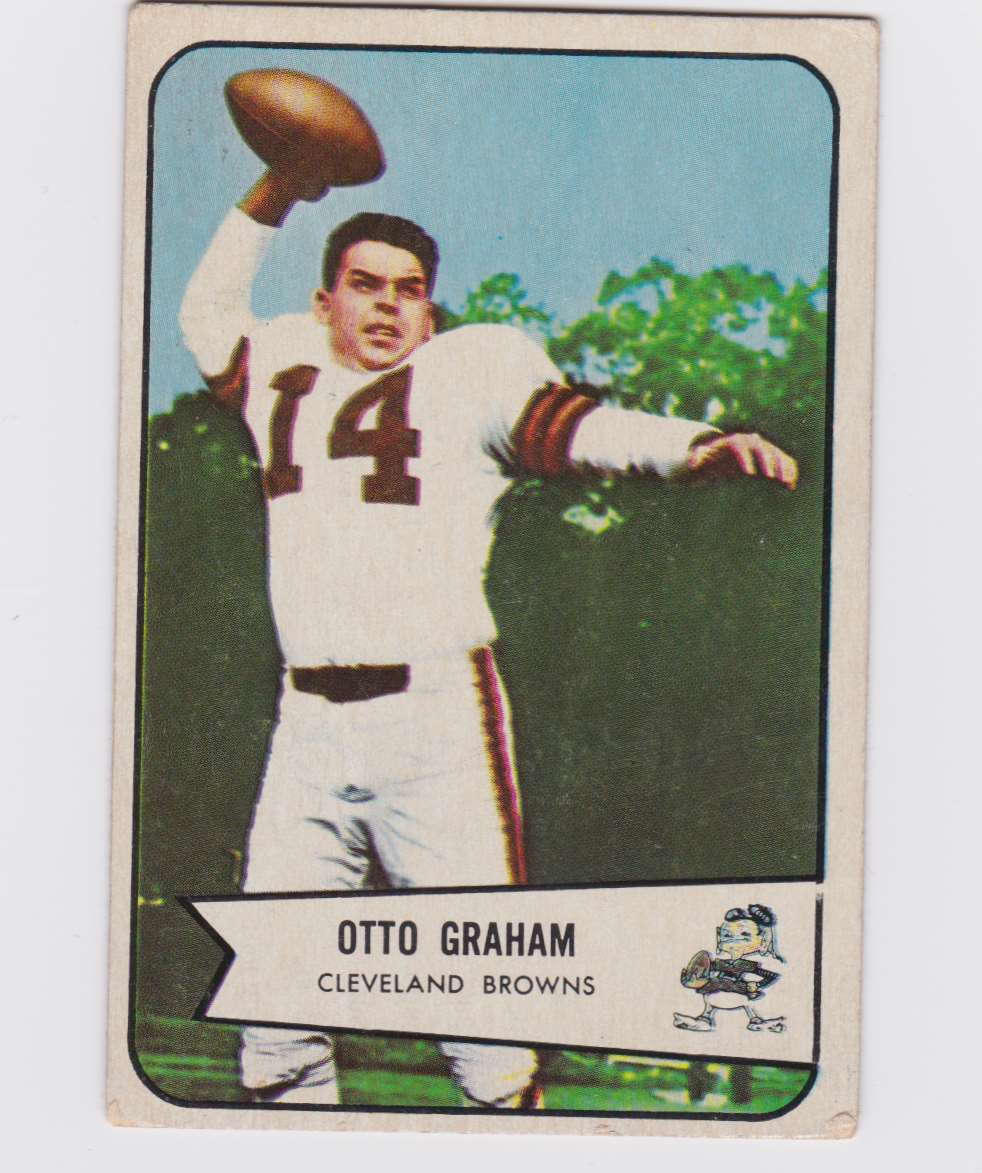 1954 Bowman Otto Graham #40 card front image