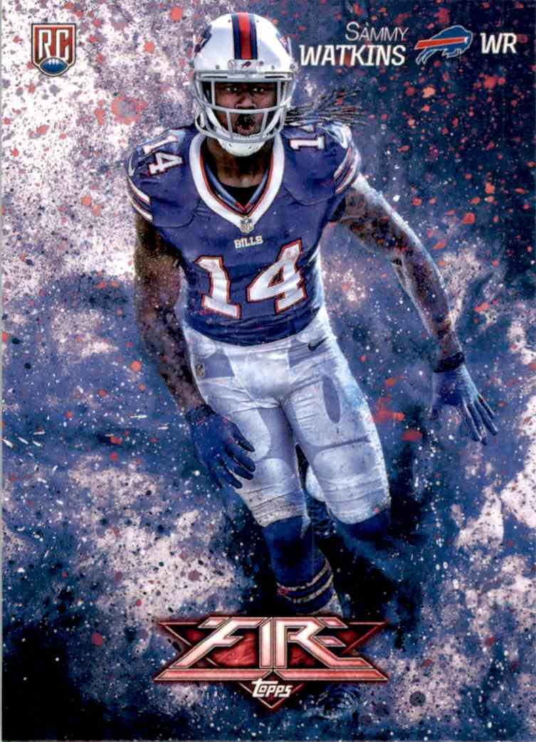 2014 Topps Fire Sammy Watkins RC #124 card front image