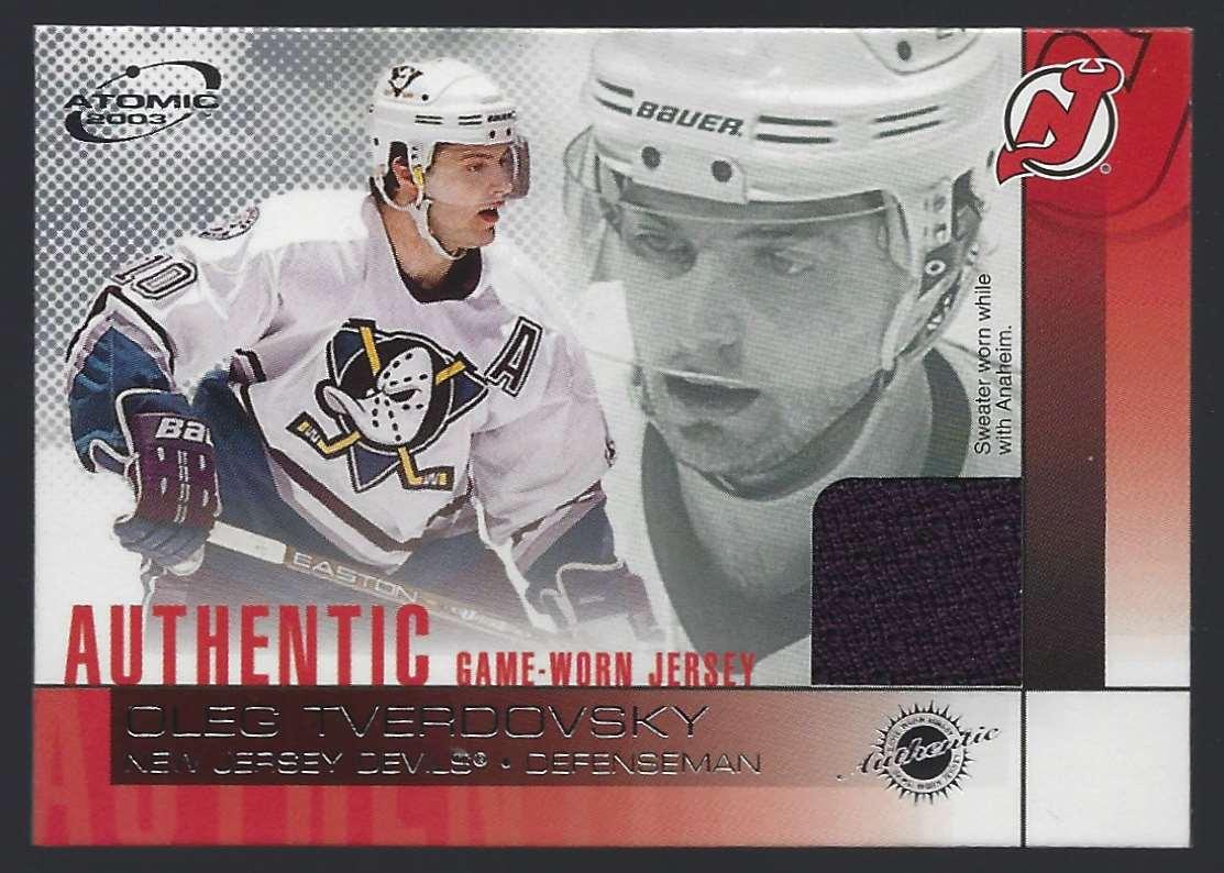 2002-03 Atomic Jerseys Oleg Tverdovsky #13 card front image
