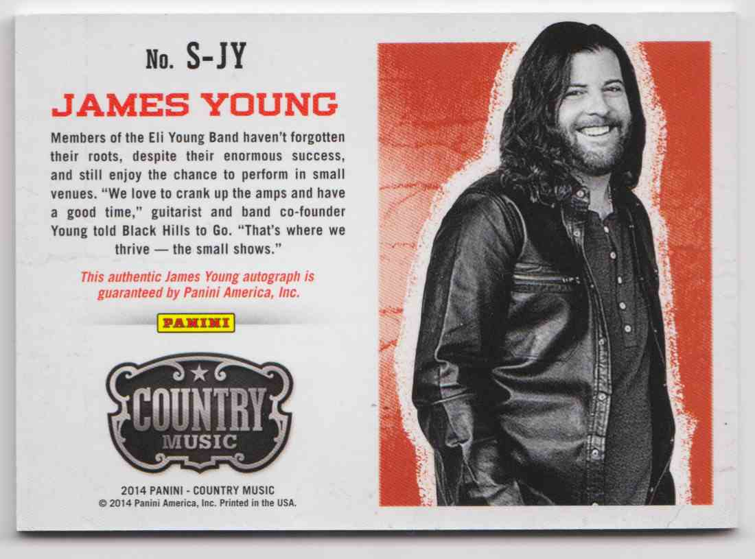 2014 Panini Country Music Blue James Young #S-JY card back image