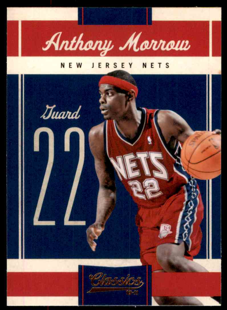 2010-11 Classics Anthony Morrow #66 card front image