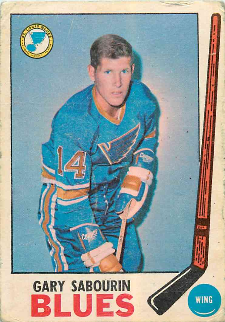 1969-70 Topps Gary Sabourin #19 card front image