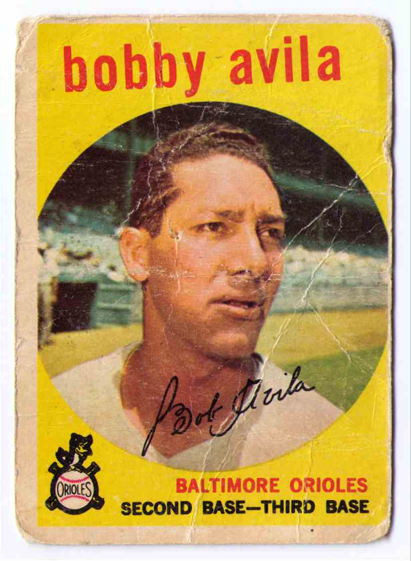 1959 Topps Baseball Card Bobby Avila #363 card front image