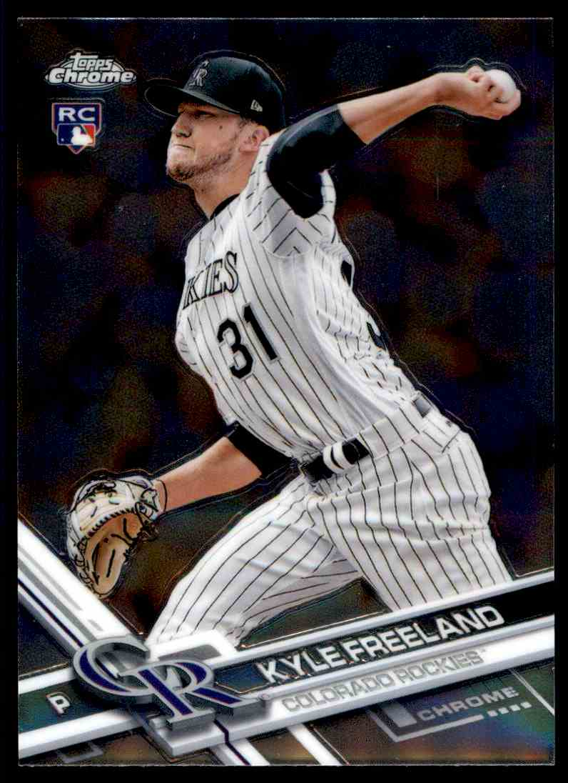 2017 Topps Chrome Kyle Freeland - Colorado Rockies RC #59
