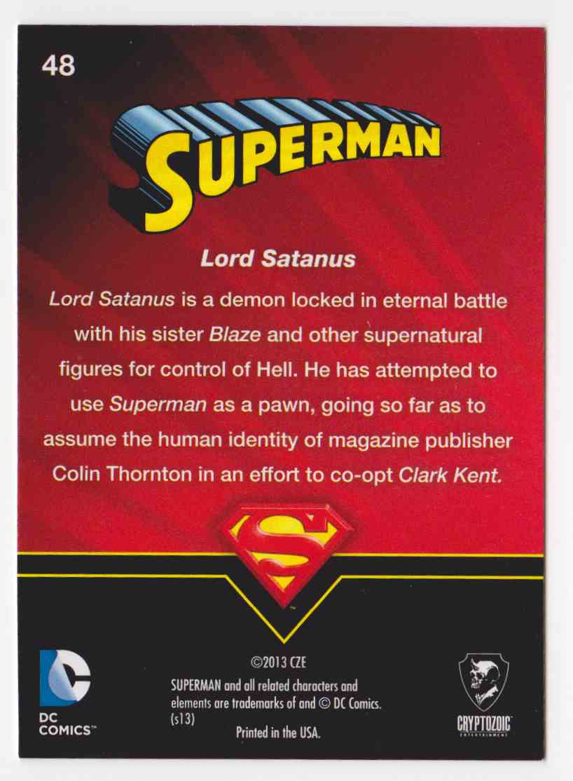 2013 Superman Cryptozoic Superman #48 card back image