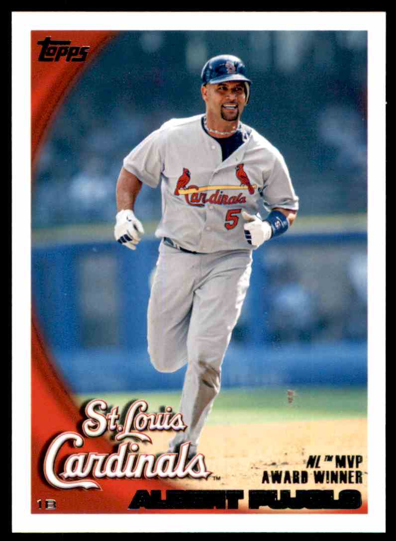 2010 Topps Albert Pujols Nl Mvp 327 On Kronozio