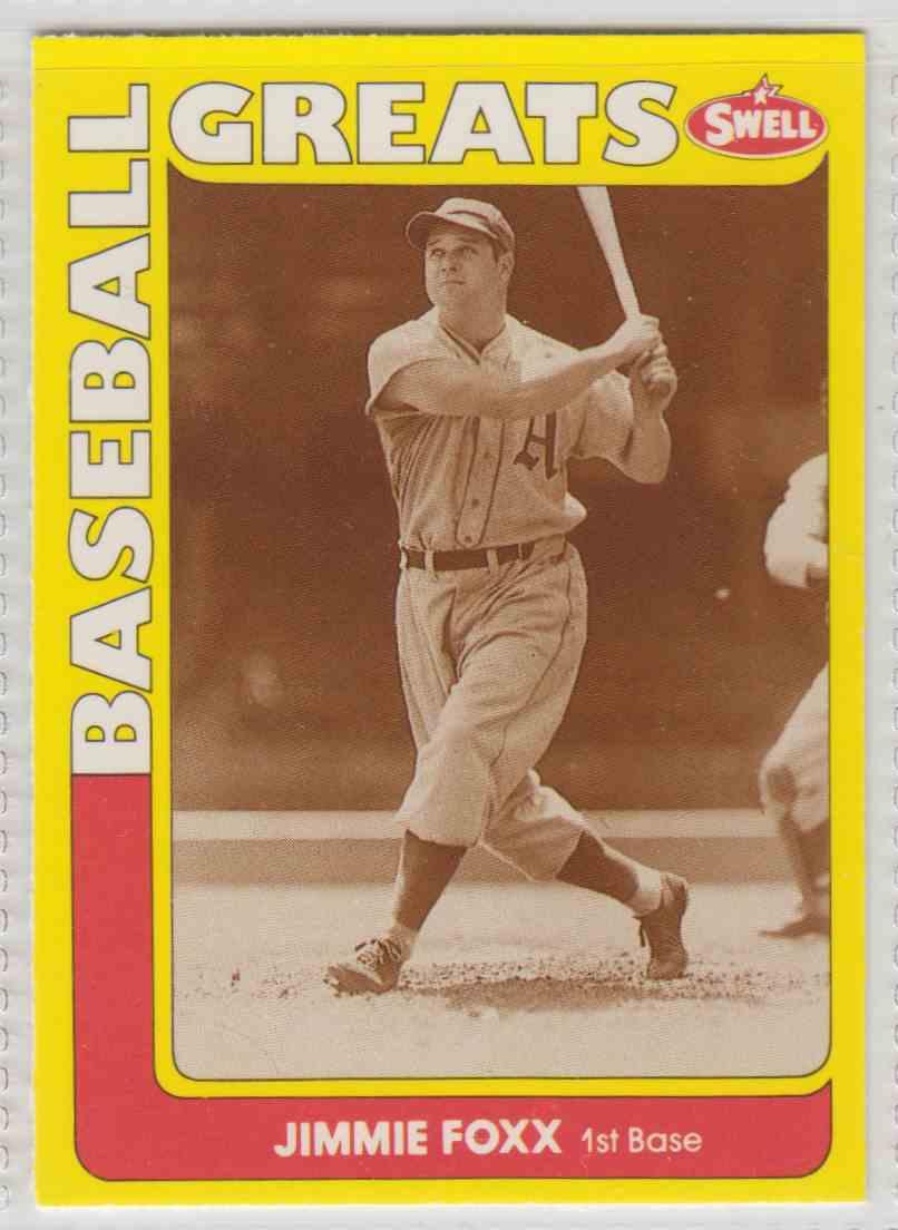 1991 Swell Baseball Greats Jimmie Foxx 143 On Kronozio