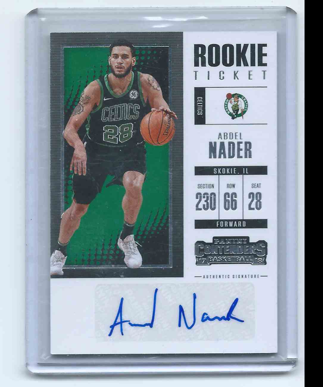 2017-18 Panini Contenders Retail Rookie Ticket Autographs Abdel Nader #ST-AND card front image