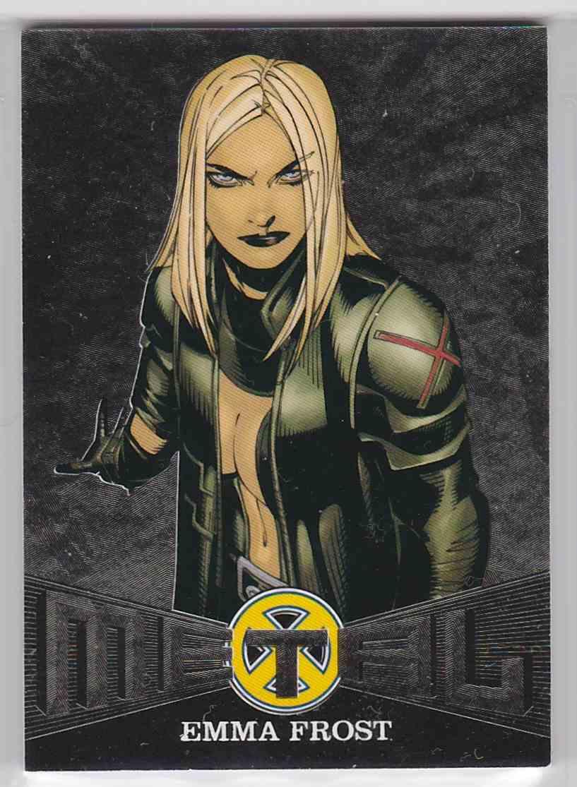 2018 Fleer Ultra X-Men Metal Blasters Emma Frost #MB18 card front image
