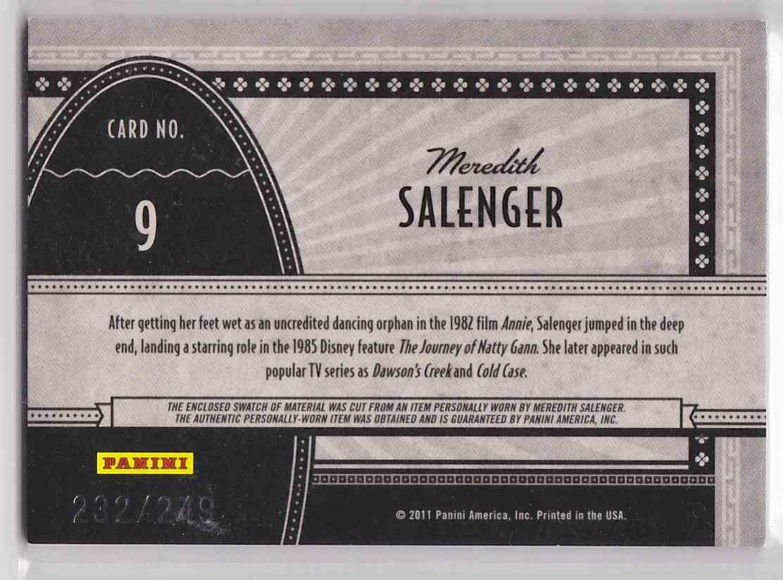 2011 Panini Americana Screen Gems Materials Meredith Salenger #9 card back image